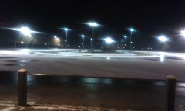 Nieuwe verlichting ijsbaan