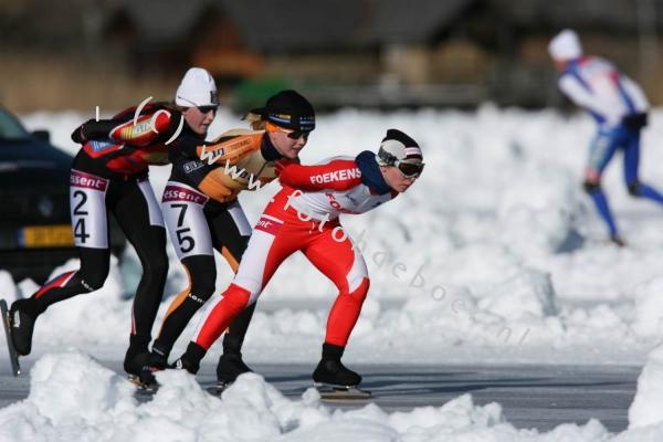 Schaatsmarathon wedstrijden op natuurijs