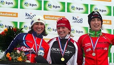 Erna Tweede tijdens KPN Open Nederlands Kampioenschap