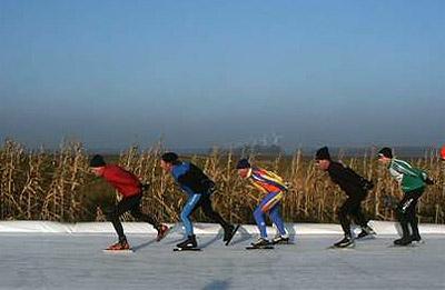 STG De Eendracht sluit schaatsseizoen af