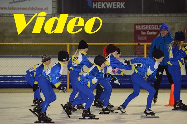 Schaatstraining 9 januari 2013 (Video)