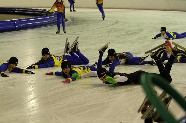 Laatste schaatstraining van het seizoen