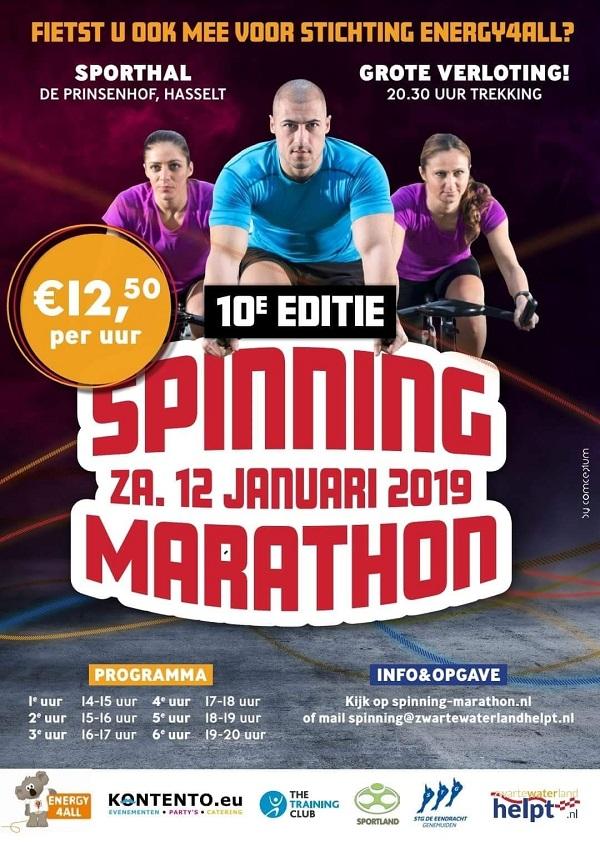 Spinningmarathon 12 januari 2019