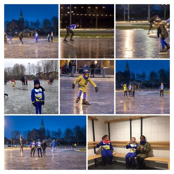 Mooie ijsdagen voor STG de Eendracht in Genemuiden.