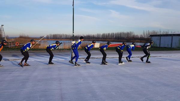 Mooie schaatsochtend op Flevonice