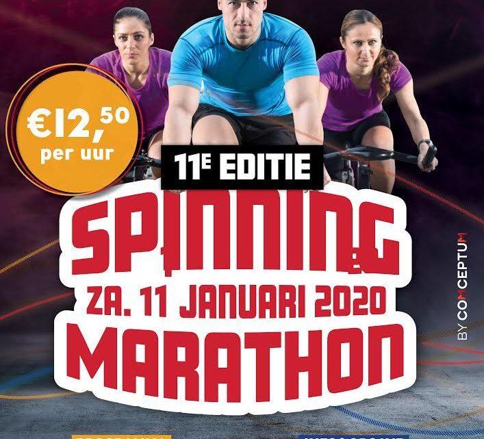 """11e Editie Spinningmarathon voor """"Kind en Brandwond"""""""
